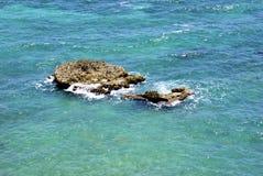 Plaża i skały Fotografia Stock