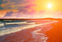 plaża jest opustoszała Obrazy Royalty Free