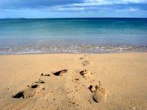 plaża kroków Fotografia Royalty Free
