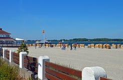 Plaża Laboe przy morzem bałtyckim w Niemcy Zdjęcia Stock