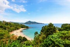 Plaża Laem Śpiewa przylądek w Phuket wyspie obraz royalty free