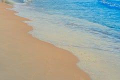 Plaża macha na piaska dnia czasie zdjęcie stock