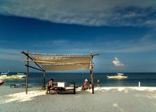 Plaża - Malapascua wyspa - Filipiny obraz stock