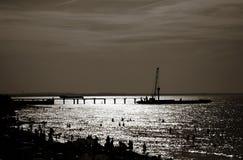Plaża Morze Bałtyckie przy wieczór obraz stock