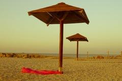 Plaża Morze koncepcja plażowy wakacje parasolkę Zdjęcie Royalty Free