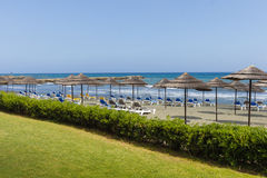 Plaża morzem fotografia stock