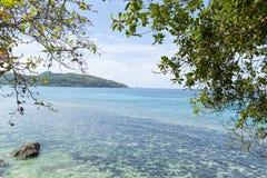Plaża na Mahe wyspie fotografia stock
