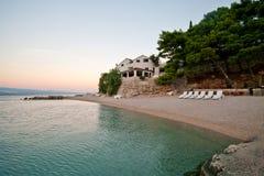 Plaża na raju. Chorwacja, Pisak fotografia stock