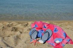 Plaża odziewa Zdjęcie Royalty Free