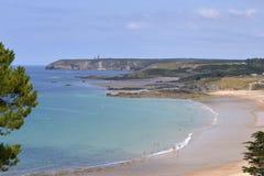 Plaża Pléhérel w Francja Obrazy Stock