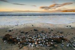 Plaża po odpływu Zdjęcie Stock