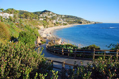 Plaża pod montażu kurortem, Laguna B.each CA. Obrazy Royalty Free