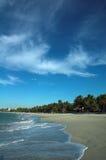 plaża ponad płaszczyzną Obrazy Royalty Free
