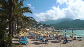 Plaża Portowy De Soller słoneczny dzień, Mallorca zdjęcie wideo