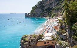 Plaża Positano, Costiera Amalfitana, Włochy Zdjęcia Stock