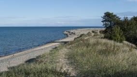 Plaża przy białoryba punktem Obrazy Royalty Free
