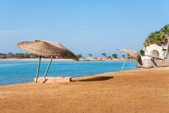 Plaża przy El Gouna. Egipt obraz stock