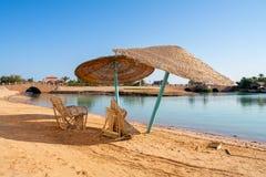 Plaża przy El Gouna. Egipt obrazy stock
