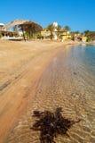 Plaża przy El Gouna Egipt zdjęcie stock