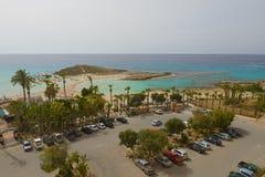 Plaża przy hotelowej Adams plaży Hotelowym widokiem od abo obraz stock