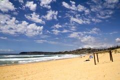 Plaża przy kędzioru kędziorem Obrazy Stock