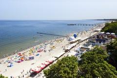 Plaża przy morzem bałtyckim przy letnim dniem Fotografia Stock