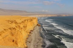 Plaża przy Paracas Krajową rezerwą Zdjęcie Stock