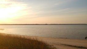 Plaża przy przylądka strachu rzeką Obraz Royalty Free