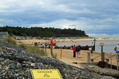 Plaża przy studniami następnie morze obraz royalty free