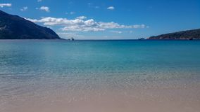 Plaża przy Wineglass zatoką w Tasmania obraz stock