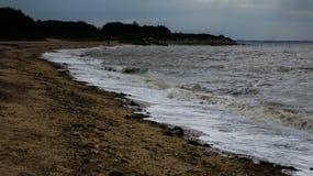 Plaża przy Zachodnim Mersea, Essex, Anglia 11 obraz royalty free