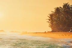 Plaża przy zmierzchem obrazy stock