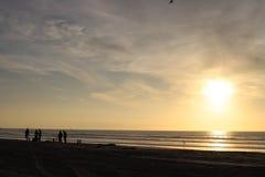 Plaża przy zmierzchem obrazy royalty free