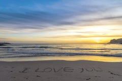 Plaża przy zmierzchem w zimie fotografia royalty free