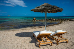 Plaża raj Obrazy Royalty Free