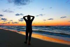 plaża relaksuje Obrazy Royalty Free