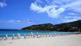 Plaża sławny Costa Smeralda, Sardinia obrazy royalty free