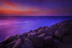 Plaża skały Obraz Royalty Free