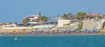 plaża tłocząca Fotografia Royalty Free