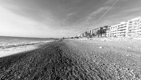 Plaża w Ładnym, Francja Obrazy Royalty Free