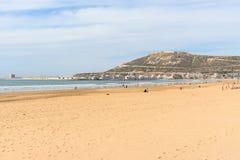 Plaża w Agadir mieście, Maroko Zdjęcie Stock