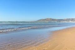 Plaża w Agadir mieście, Maroko Obraz Stock