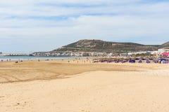 Plaża w Agadir mieście, Maroko Fotografia Royalty Free