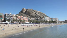 Plaża w Alicante, Hiszpania Obrazy Royalty Free