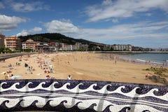 Plaża w Castro Urdiales, Cantabria, Hiszpania Obrazy Royalty Free