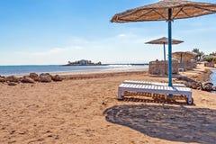 Plaża w Egipt zdjęcie royalty free
