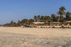 Plaża w Gambia Zdjęcie Stock