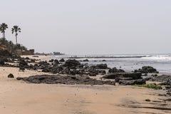 Plaża w Gambia Obrazy Stock