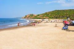 Plaża w Goa, India obrazy royalty free