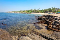 Plaża w Goa, India fotografia royalty free